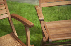 Summer garden furniture close up - summer's here. Royalty Free Stock Photos