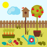 Summer garden and harvest Stock Images