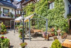 Free Summer Garden In German Cafe Stock Images - 103520214