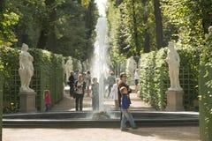 Summer Garden In Sankt Petersburg Royalty Free Stock Images