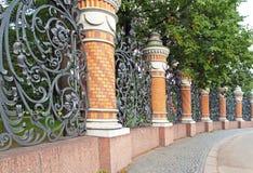 The Summer garden lattice.Russia. Petersburg. Stock Images