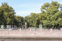 Summer garden on the Moika Embankment. Royalty Free Stock Photography