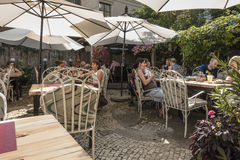 Summer garden in Restaurant royalty free stock images