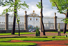 Summer garden in Saint Petersburg Stock Image