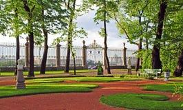 Summer garden in Saint Petersburg Stock Photography