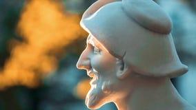Summer Garden in St. Petersburg Russia. Antique statue in the Summer Garden, St-Petersburg, Russia stock video footage