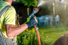 Summer Garden Watering Stock Image