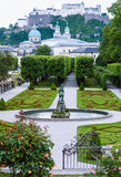 Summer Gardens of Mirabell Palace (Salzburg, Austria) Royalty Free Stock Photos