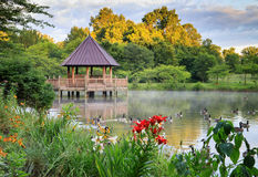 Summer Gazebo on Lake in Vienna VA Stock Images