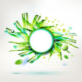 Summer geometric form modern style sticker Stock Images