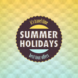Summer: Geometric retro background Stock Photography
