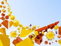 Summer geometrical background Royalty Free Stock Image