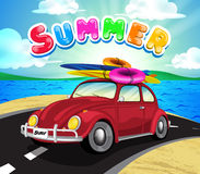 Summer Getaway Background with Travel Car Royalty Free Stock Photography