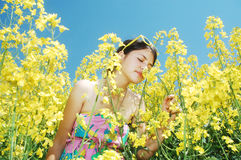 Summer girl Stock Images