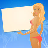 Summer Girl in Bikini Royalty Free Stock Images