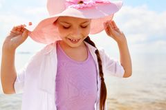 Summer girl royalty free stock photos