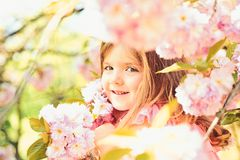 Summer girl fashion. Happy childhood. Little girl in sunny spring. Small child. Natural beauty. Childrens day stock image