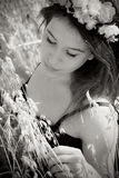 Summer girl in field Royalty Free Stock Photography