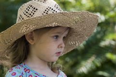Summer girl in the garden Stock Images