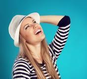 Summer girl in hat Stock Photo