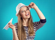 Summer girl in hat Royalty Free Stock Photo