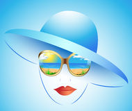 Summer girl in a hat Royalty Free Stock Images