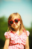 Summer. Girl kid child in red sunglasses outdoor Royalty Free Stock Photo
