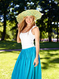 Summer girl (medium format image) Stock Photos