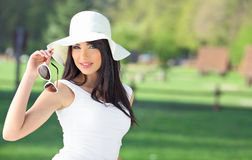 Summer girl in park Stock Photography