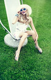 Summer girl in a park on vacation Royalty Free Stock Photo