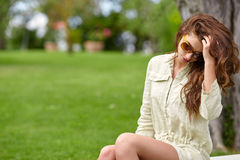 Summer girl portrait. Royalty Free Stock Images