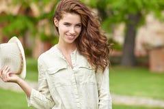 Summer girl portrait. Stock Photo