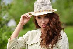 Summer girl portrait. Royalty Free Stock Photos