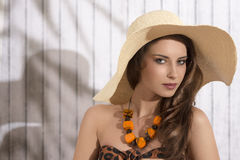 Summer girl with sensual expression Royalty Free Stock Image