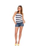 Summer girl standing. Full lenght Stock Photos