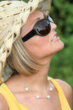 Summer girl with sun glasses Royalty Free Stock Image