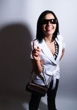Summer girl with sunglasses is smiling Royalty Free Stock Photography