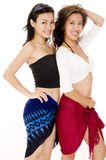 Summer Girls #2. Two pretty asian women in summer clothes Stock Photos
