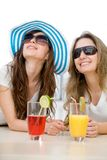 Summer girls isolated Royalty Free Stock Image