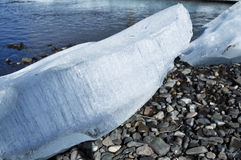 Summer glacier ice. Royalty Free Stock Photography
