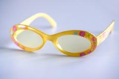 Summer glasses. & grey background stock images