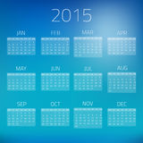 Summer Gloss Calendar 2015 vector background Stock Photos