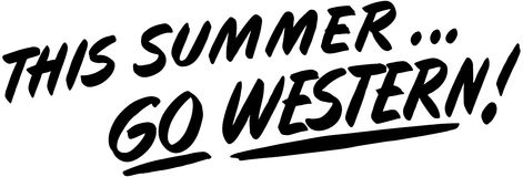 This Summer Go Western Stock Images