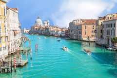 Summer at grand canal in Venice, Italy Stock Images