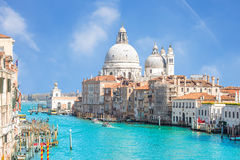 Summer at grand canal in Venice, Italy Royalty Free Stock Images