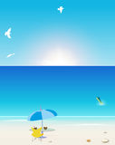 Summer graphic background Stock Photography