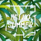Summer graphic design Stock Photography