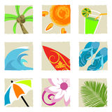 Summer graphics vector Royalty Free Stock Photo