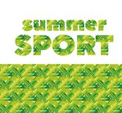 Summer grass green sport abstract seamless pattern. Royalty Free Stock Photos