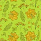 Summer grass pattern. Seamless summer grass pattern. Hand-drawing background Stock Images